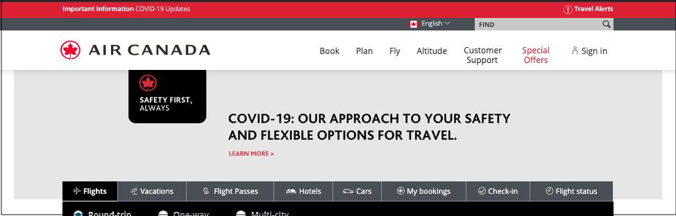 COVID-19 Air Canada