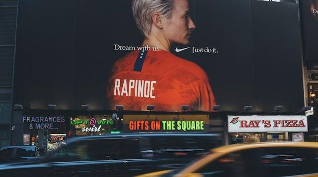 Nike Billboard Featuring Megan Rapinoe and Slogan