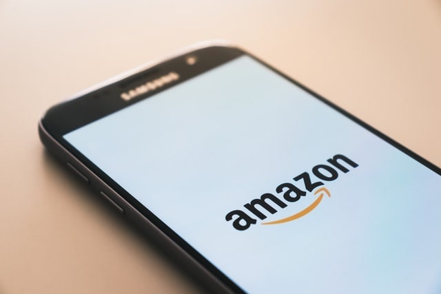 Amazon Logo Shown on Smartphone Screen