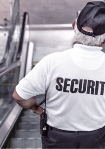 Business Continuity Plan Security Guard on Escalator