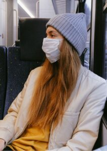Business Continuity Plan Woman Wearing Surgical Mask