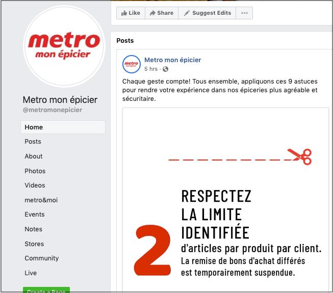 Using Social Media Metro Facebook