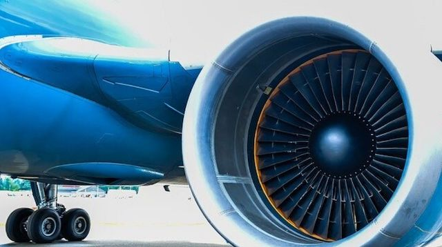 Corporation Tax Closeup of Jet Engine