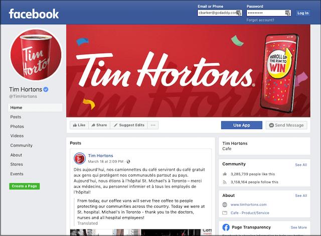 Customer Contact Tim Hortons