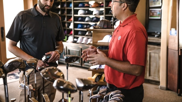 Customer Service Skills Two Men with Golf Clubs
