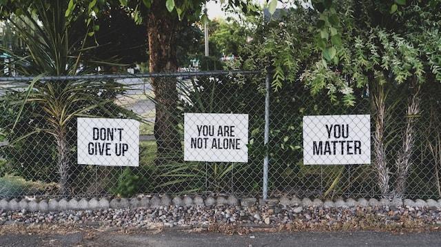 Employee Assistance Program Positive Affirmations on Fence