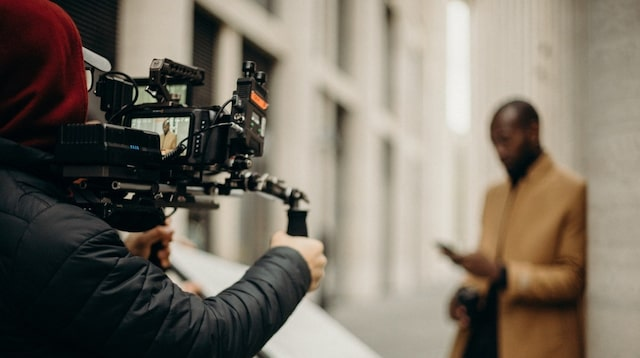 Financial Statement Vidographer on a Shoot