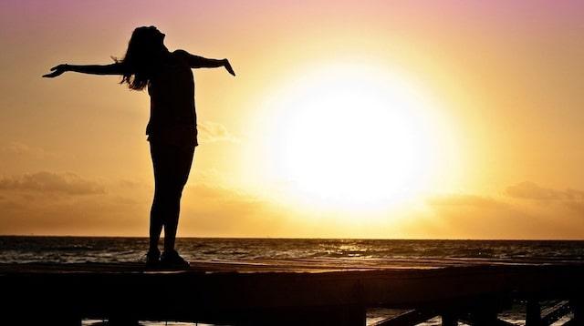 Fresh Start Woman Standing on Pier