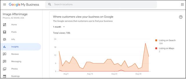 Google My Business Dashboard