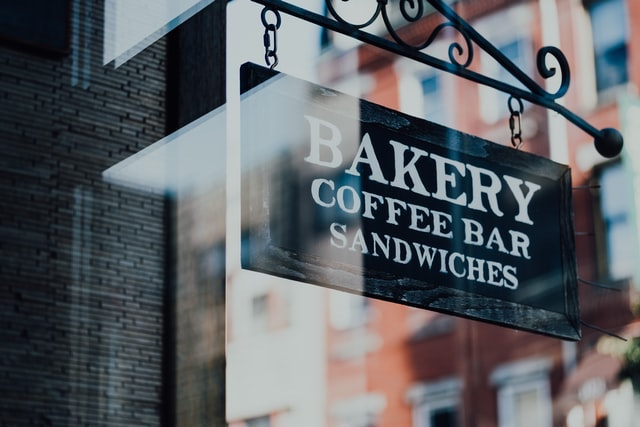 Government Grants Bakery Sign