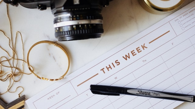 Health and Wellness Calendar with Camera