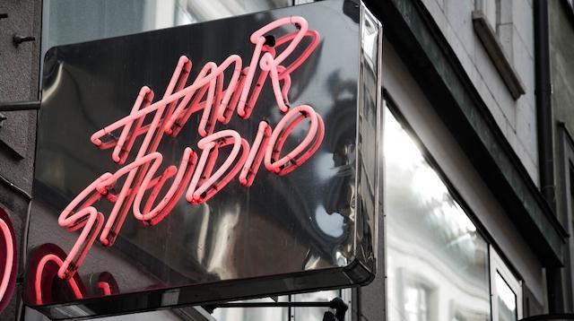 Domain Lookup Hair Salon Sign