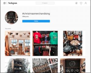 Visual Merchandising Instagram Search