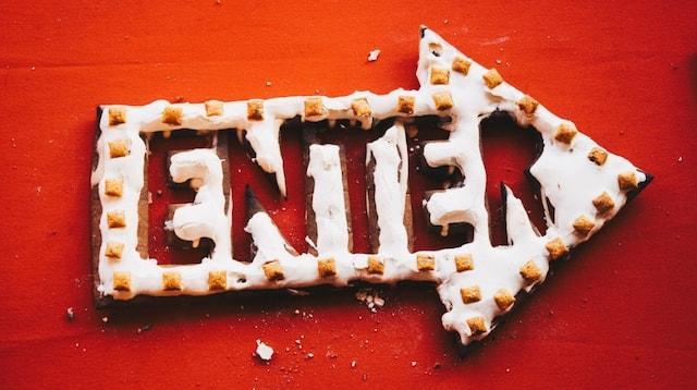 Inbound Marketing Gingerbread Enter Sign
