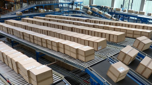Income Statement Boxes on Conveyor Belts