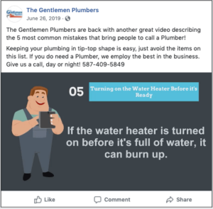 Lead Generation Gentlemen Plumbers Facebook