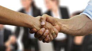 Angel Investors Two People Shaking Hands