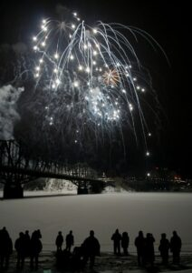 New Year Resolution Fireworks Over Ottawa River