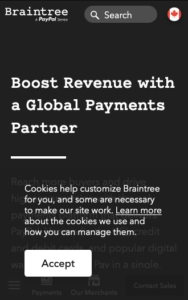 Online Payment Processing Braintree