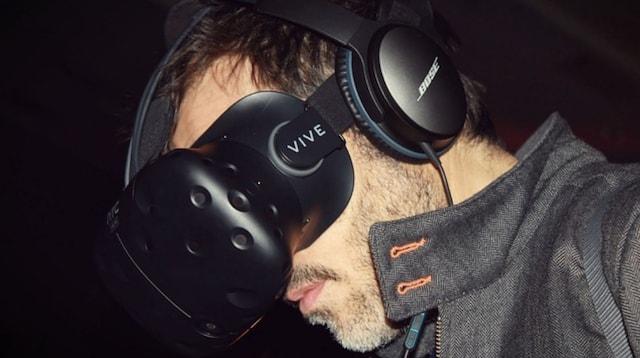 R&D Man Wearing Virtual Reality Headset