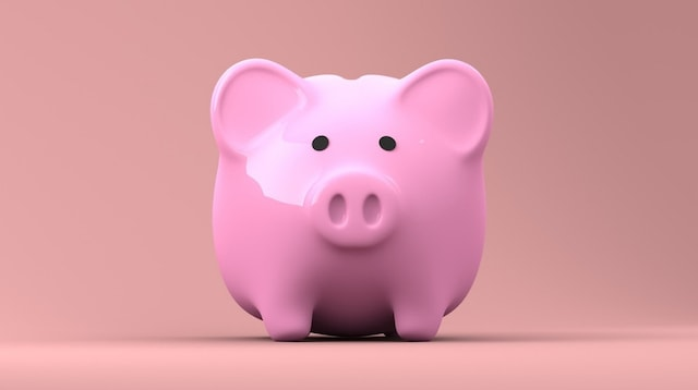 Retirement Planning Pink Piggy Bank
