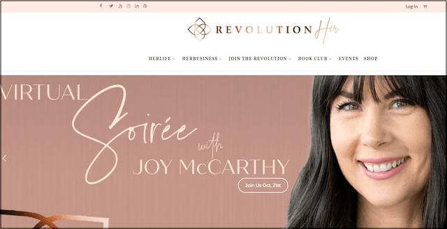 RevolutionHer Home Page