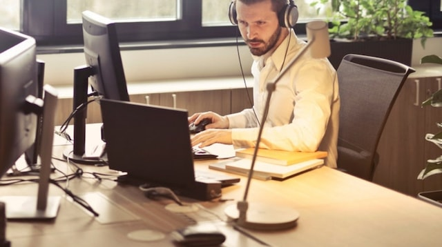 Side Jobs Man with Headphones
