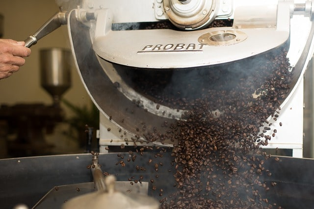Supply Chain Worker Coffee Roasting
