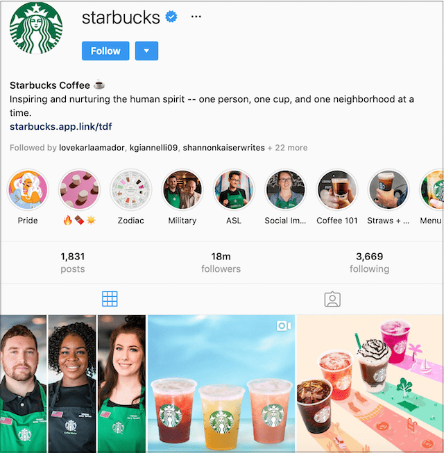 What is Social Media Marketing Starbucks Instagram