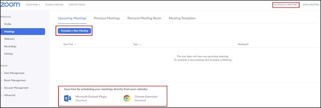 Zoom Video Conferencing Sync with Team Calendar