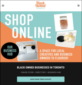 Black Owned Toronto home page