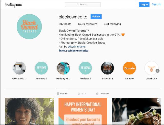 Black Owned Toronto Instagram