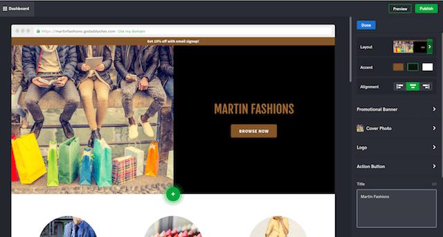 Build Your Own Website GoDaddy Website Builder