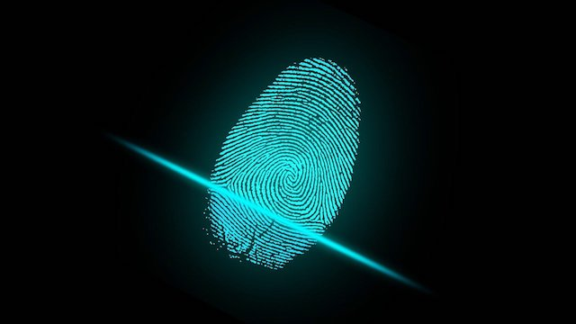 Digital scan of thumbprint