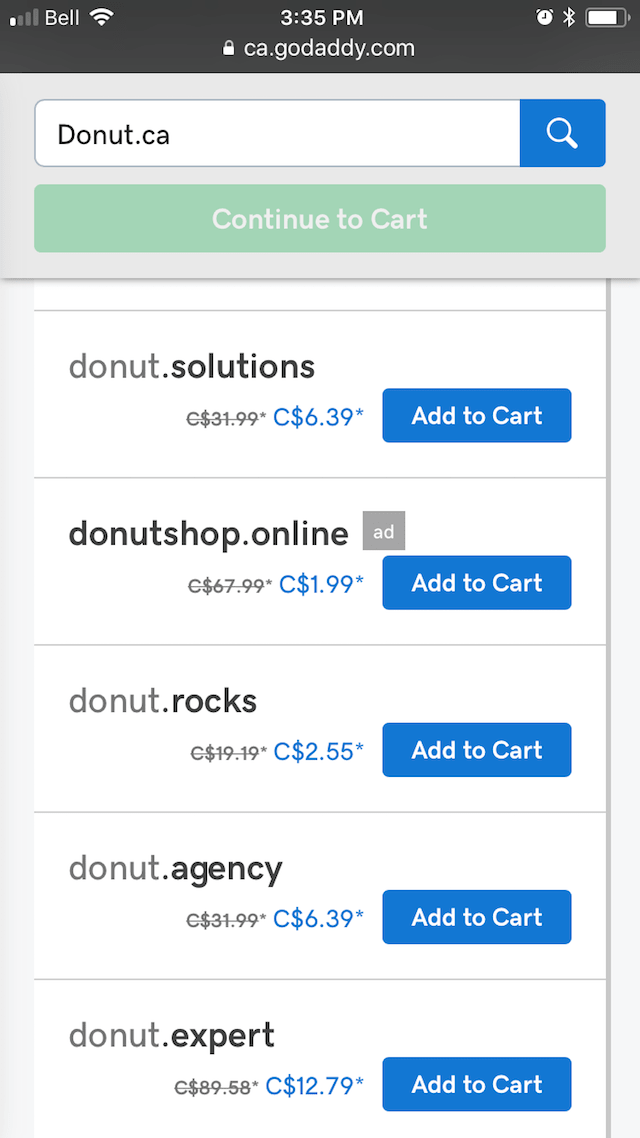 "Domain Check Donut SERP"" width="