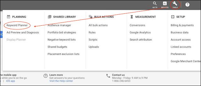 Google Keyword Tool Planner