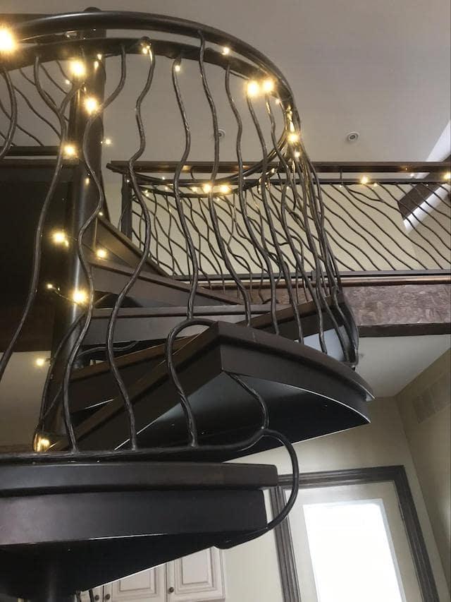 Handmade circular staircase and railing