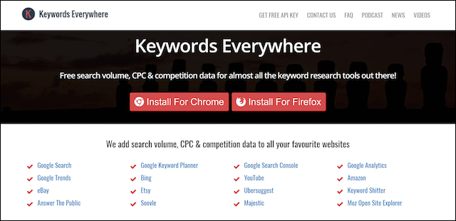 Keyword Planner Keywords Everywhere