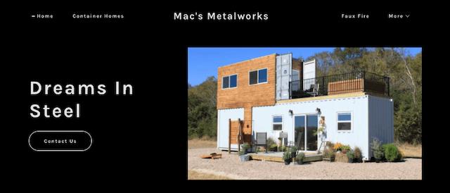 Mac's Metalworks website