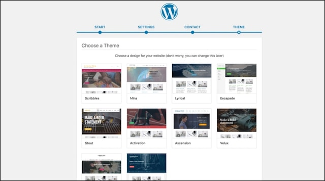 Make a Website MWP Choose Theme