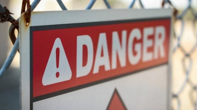 Malware Removal Danger Sign