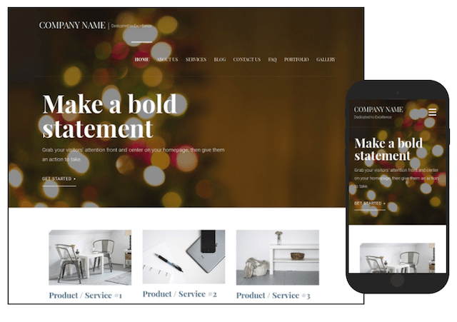 Online Store Holiday Template