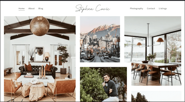 Stephen Covic website home page