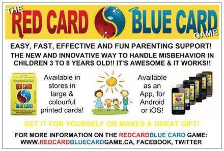 The Power of Positive Thinking Red Card Blue Card