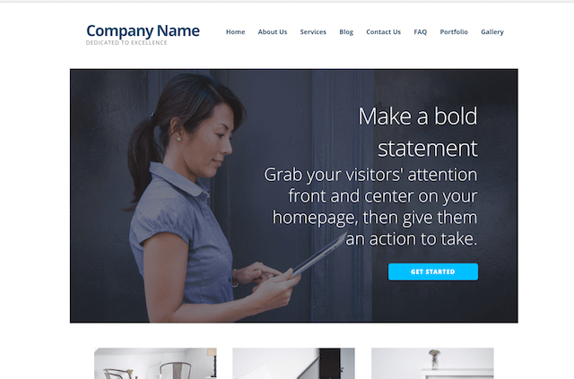 WordPress Website GoDaddy Managed WordPress Theme